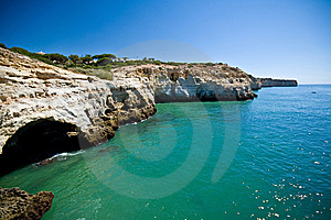 Cliffs And Cave Formation Royalty Free Stock Image - Image: 8936786