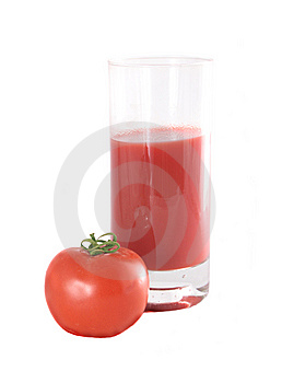 Glass With Juice And A Tomato Stock Photography - Image: 8938382