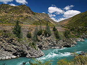 Kawarau River Rapids Stock Photo - Image: 8939640