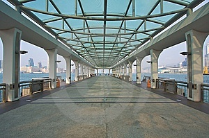 Pier In Symmetrical Structure Stock Photo - Image: 8942220