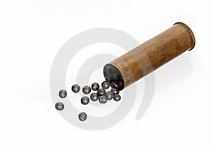 Cartridge With Buckshot Stock Photos - Image: 8942223