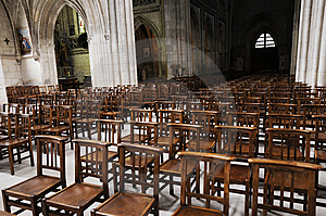 Chairs In The Church Stock Photo - Image: 8942490