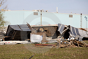 Tornadoes Path Royalty Free Stock Photography - Image: 8943997