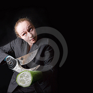 Female With Gun Instead Of Hands Stock Photography - Image: 8944792