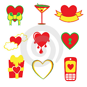 Love Icons Stock Photo - Image: 8945080