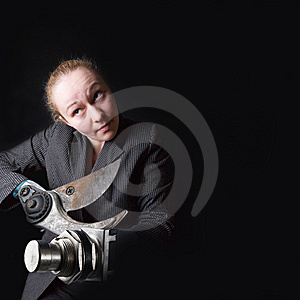 Woman With Gun Instead Of Hands Royalty Free Stock Photography - Image: 8945667