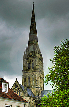 Salisbury Cathedral Spire Royalty Free Stock Photo - Image: 8945885