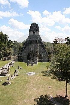 Tikal Temple Royalty Free Stock Photos - Image: 8947238