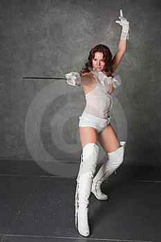 Girl-musketeer Stock Photos - Image: 8947823