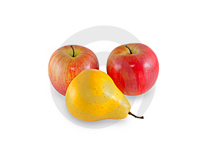 Two Apples And Pear Royalty Free Stock Photography - Image: 8948577