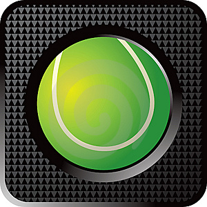 Tennis Ball Web Button Royalty Free Stock Images - Image: 8951079