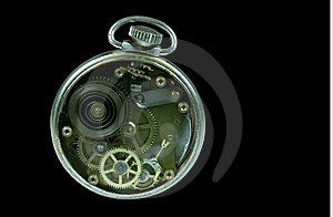 Pocket Watch Gears Royalty Free Stock Photos - Image: 8951768