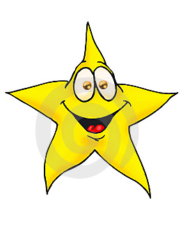 Smiling Star Isolated Stock Photos - Image: 8952293