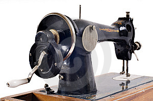Old Black Sewing Machine Royalty Free Stock Image - Image: 8954766