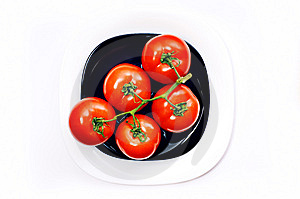 Bunch Of Tomato On Plates Stock Images - Image: 8954774