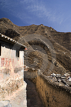 Ancient Lane In A Chinese Village Near Beijing Stock Images - Image: 8954944