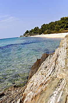 Rocky Beach At Chalkidiki, Greece Stock Photography - Image: 8955112
