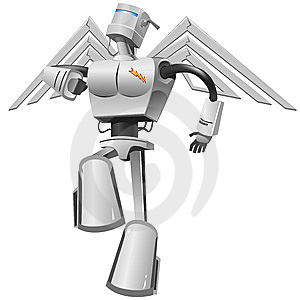 Flying Robot Stock Photos - Image: 8956773