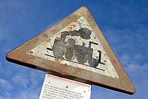Retro Railroad Sign Stock Photo - Image: 8958250