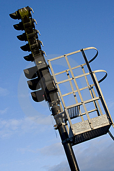 A Railroad Semaphore Royalty Free Stock Image - Image: 8958256