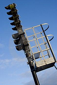 A Railroad Semaphore Royalty Free Stock Image - Image: 8958256