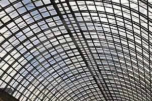 Shopping Mall Glass  Ceiling Interior View Stock Images - Image: 8958734