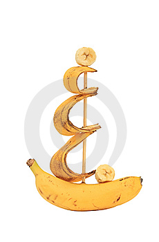 Ship From A Banana. Stock Photo - Image: 8958800
