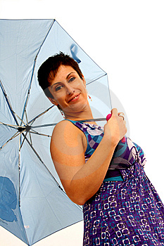 Woman With Umbrella Stock Images - Image: 8959014