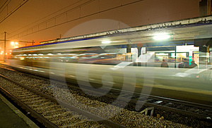 Train In Motion Stock Photography - Image: 8959362