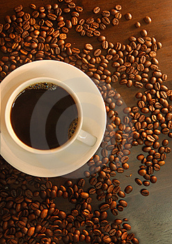 Top View Coffee Royalty Free Stock Image - Image: 8959716