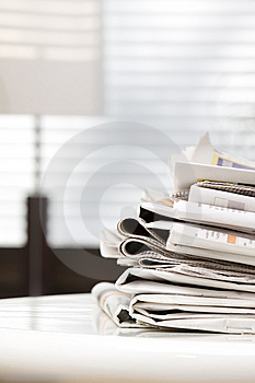 Pile Of Newspapers Stock Images - Image: 8961624