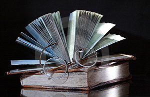 Old Books On Dark Royalty Free Stock Photos - Image: 8961918