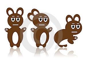 Three Brown Rabbits Stock Photos - Image: 8963183