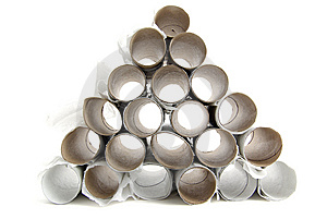 Empty Toilet Paper Rolls Royalty Free Stock Image - Image: 8965686