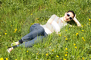 Young Woman Relaxing In Nature Royalty Free Stock Photo - Image: 8966005