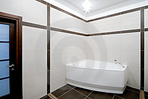 Bathroom In Minimalism Style Royalty Free Stock Photography - Image: 8966037