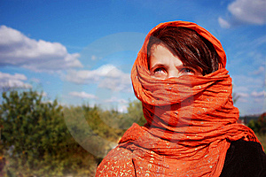 Veiled Lady Royalty Free Stock Photos - Image: 8966248