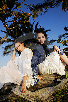 Two Girls Enjoying The Summer Stock Photo - Image: 8968660