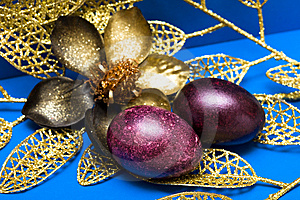 Easter Eggs With Flower Stock Photography - Image: 8968802