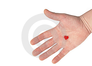 Heart On Hand Stock Photos - Image: 8969903