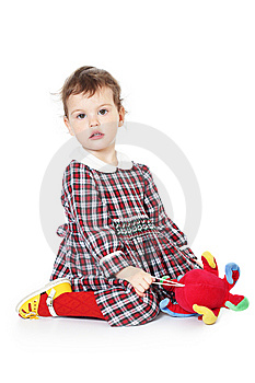 Little Girl In Checkered Dress Royalty Free Stock Photography - Image: 8971617