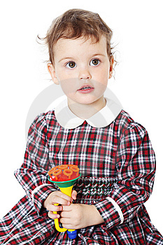 Little Girl In Checkered Dress Stock Photography - Image: 8971662
