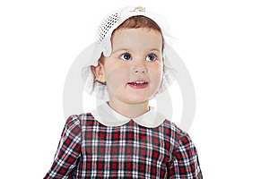 Little Girl In Checkered Dress Royalty Free Stock Images - Image: 8971679