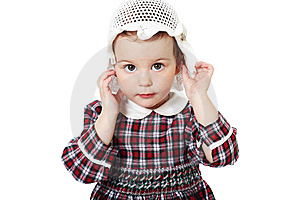 Little Girl In Checkered Dress Stock Photo - Image: 8971690