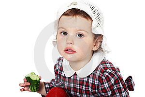 Little Girl In Checkered Dress Stock Photography - Image: 8971722