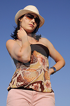 Trendy Girl Posing Royalty Free Stock Image - Image: 8971826