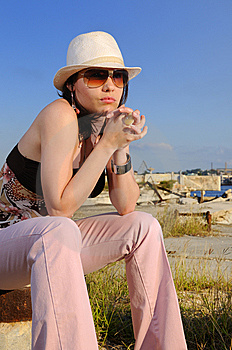 Trendy Fashion Woman Royalty Free Stock Image - Image: 8971836