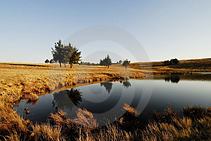 Dam Reflections Stock Photography - Image: 8972322