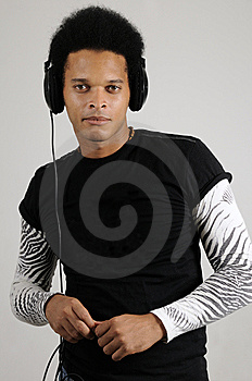 Male Model With Headphones Stock Images - Image: 8972644