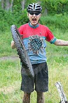 Mountain Bike Racer Stock Photos - Image: 8973193